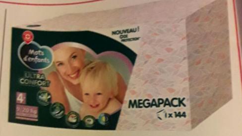 Pack de 144 couches bébé ultraconfort Marque Repère  (via 5,42€ fidélité)