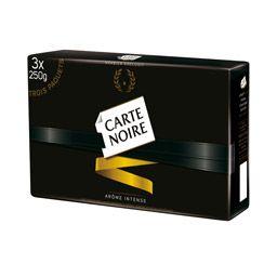 Café Carte noire Moulu - 3 x 250Gr (via 4.33€ sur la carte + BDR) - Saint-Herblain (44)