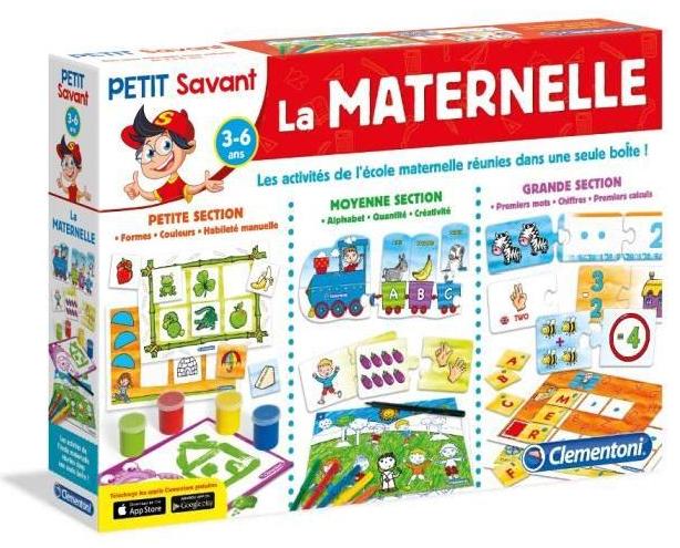 Kit de 10 Jeux Clementoni La Maternelle + hand spinner offert