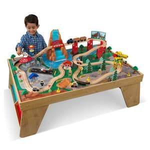 Ensemble table et train Cascade naturelle Kidkraft 18001