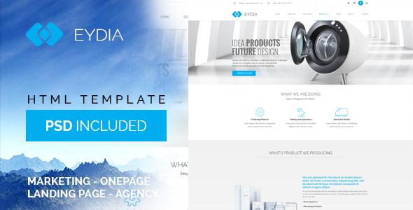 Template Eydia HTML5 Responsive gratuit (au lieu de 18$)