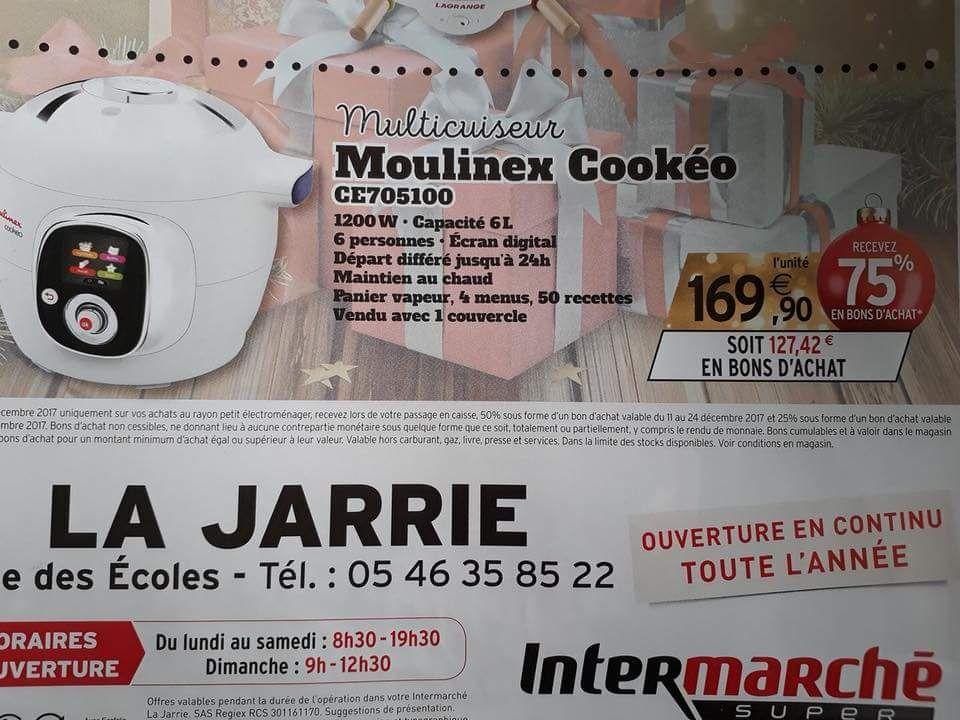 Multicuiseur Intelligent Moulinex Cookeo CE705100 - 50 recettes, 6 modes de cuisson (avec 75% en bons d'achat) - La Jarrie (17)