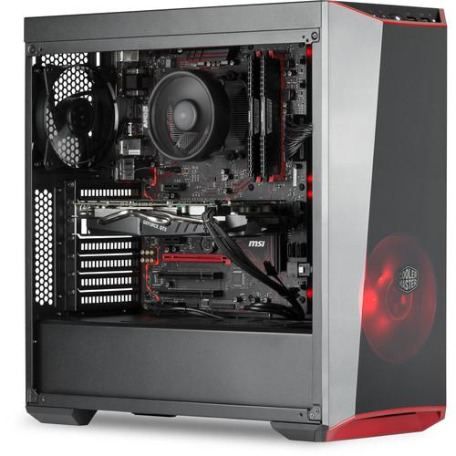 PC de bureau Baryum by Topachat - AMD Ryzen 5 1600, 16 Go RAM, 1 To + 120 Go SSD, GTX1060 6Go, Sans OS