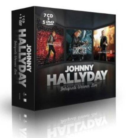 Coffret Johnny Hallyday, intégrale Warner Live  7 CD + 5 DVD