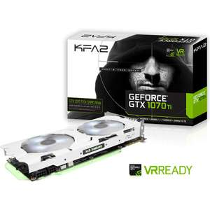 Carte graphique KFA2 GeForce GTX - 1070 Ti -  EX SNIPER White, 8 Go