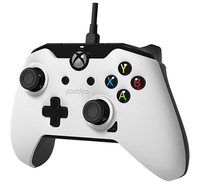 Manette filaire PDP pour Xbox One et PC - blanche