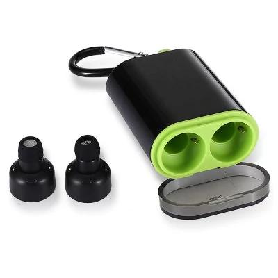Écouteurs intra-auriculaires bluetooth sans fil H2 avec base de recharge - Noir
