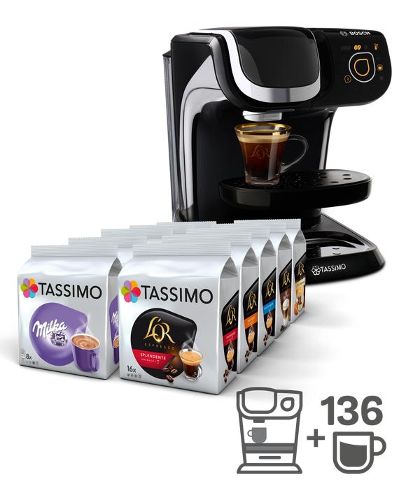 Machine à café Tassimo My Way TAS6002 Noir + 136 boissons (+2 codes promos de 10€)