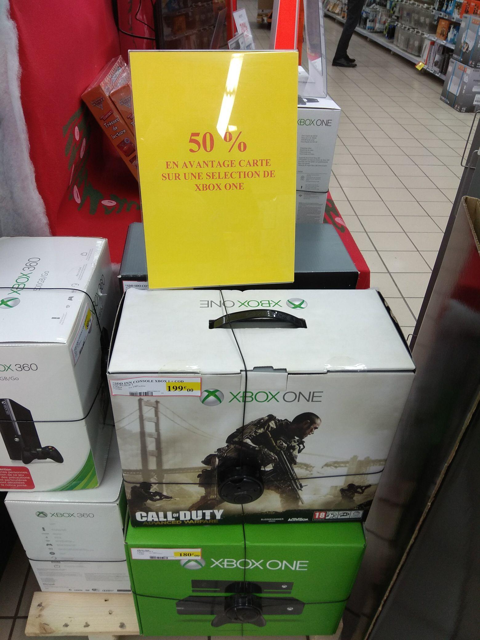 50% offerts en bon d'achat sur une sélection de Xbox One - Ex : Xbox One 1To + COD Advanced Warfare (avec 99.95€ en bons d'achat) - Longchamps (35)