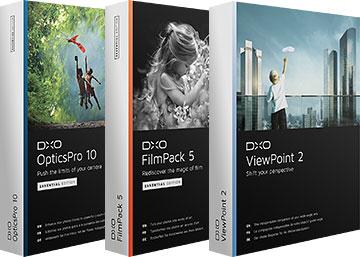 Logiciels DxO Optics en promo - Ex : DxO OpticsPro