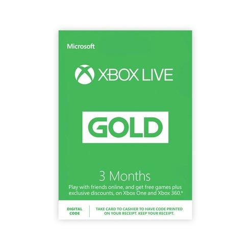 3 mois d'abonnement au Xbox Live (Code - Dématérialisé)