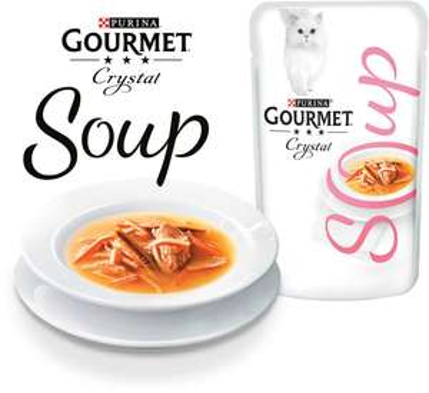 2 sachets Gourmet Crystal Soup Purina gratuits