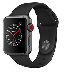 Montre connectée Apple Watch Series 3 - 4G, boîtier 38 mm (via 50€ ODR)