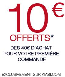 10€ de réduction dès 40€ d'achat sur votre première commande