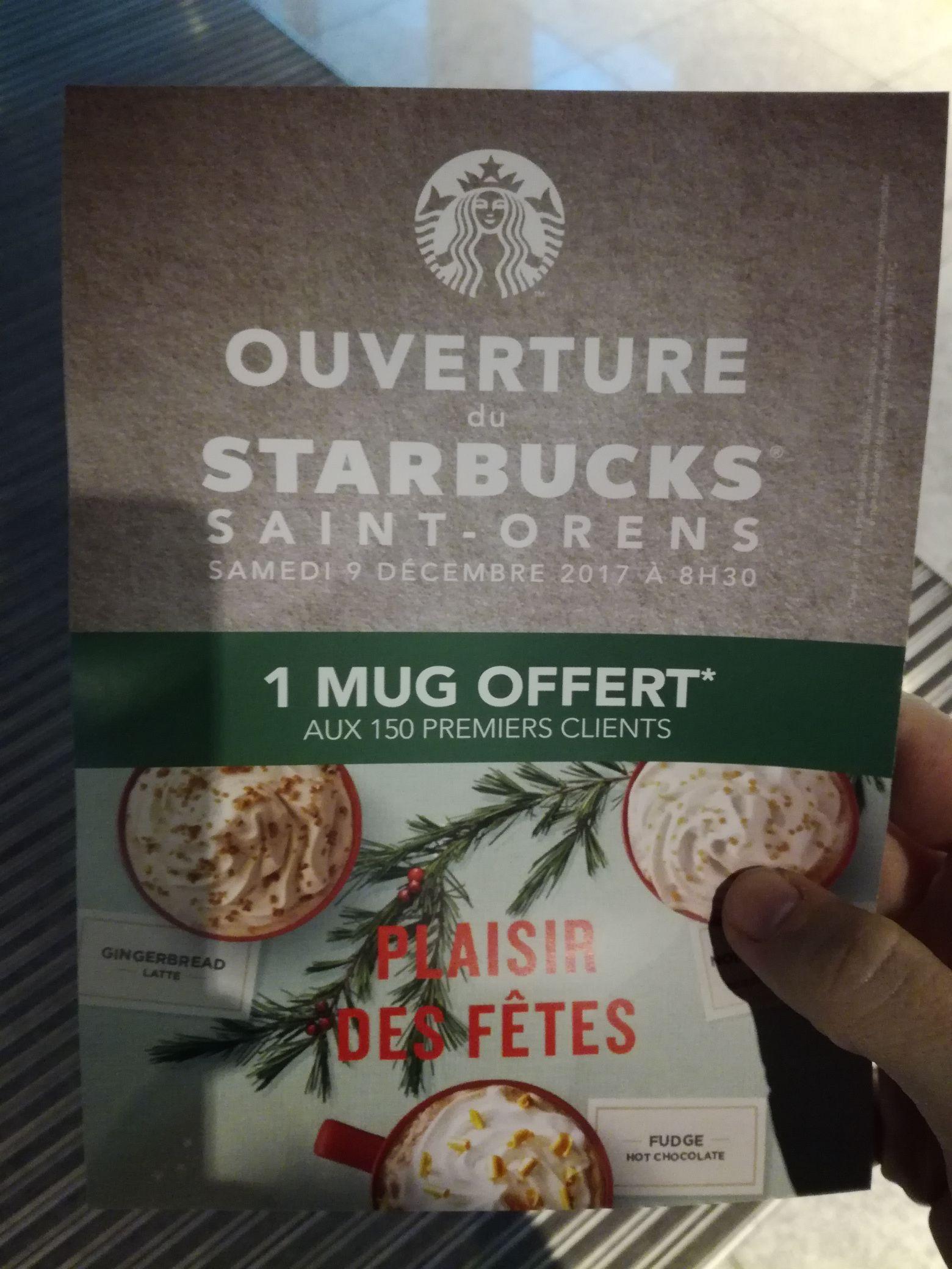Un mug offert aux 150 premiers clients - Saint-Orens (31)