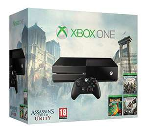 Console Xbox One 500Go + Assassin's Creed Unity & Black Flag + Rayman Legends + 14 jours XBOX Live Gold