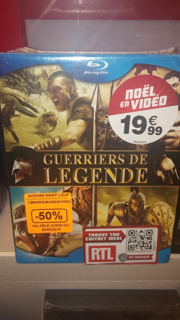 Sélection de coffrets Blu-ray / DVD à -50% - Ex : Coffret Le choc des titans + 300 + 10 000 + Troie