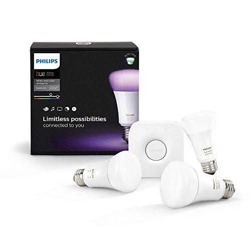 Kit de démarrage 3 ampoules Philips Hue White and Color E27 + pont de connexion Hue 3ème génération
