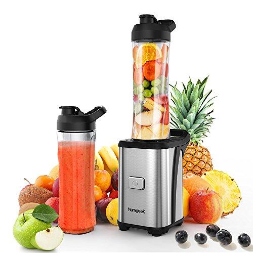 Mixeur à Smoothie et Milk-shake Homgeek avec 2 Bouteilles 600ml et 2 Couvercles sans BPA (vendeur tiers)