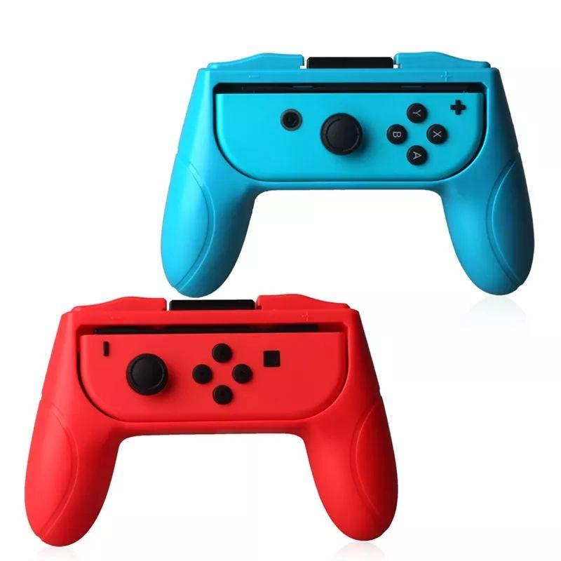 Poignées de confort pour manettes Nintendo Switch - Rouge et Bleu