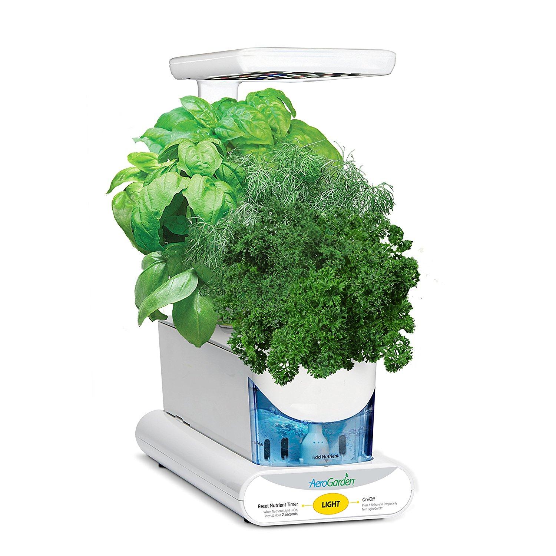 Kit de plantation AeroGarden Miracle-Gro Sprout LED - avec graines d'herbes gourmets, blanc ou noir