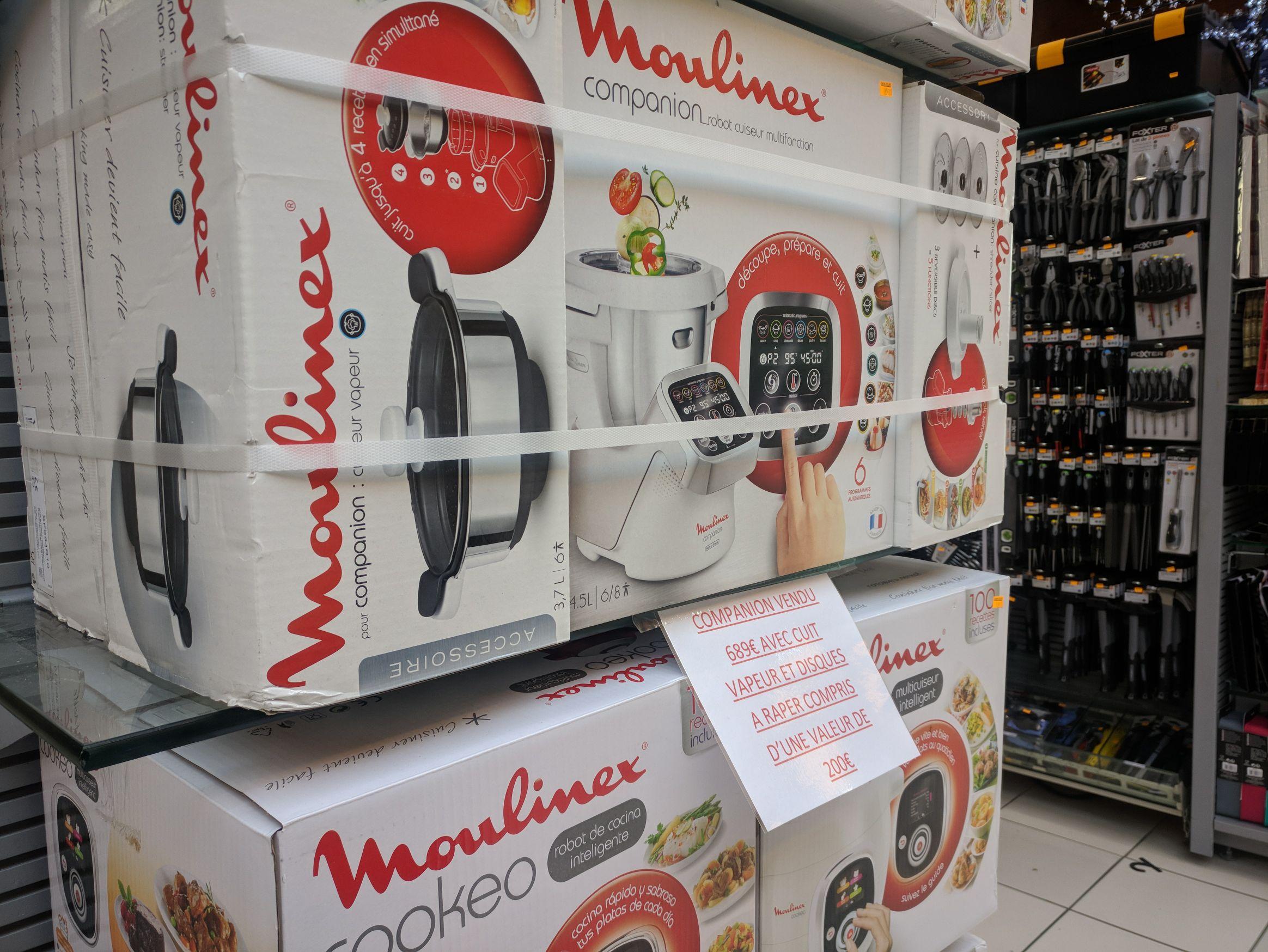 Robot Moulinex Companion + Panier vapeur et disque à râper - Leclerc Clermont Ferrand la pardieu (63)
