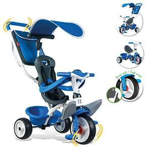 Tricycle Baby Balade 2 Smoby Toys , Tricycle Evolutif, Bleu