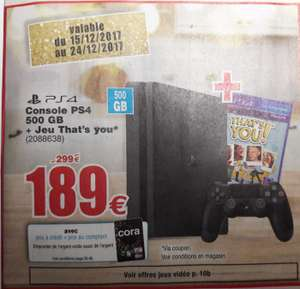Console Sony Playstation 4 - 500 Go + Jeu That's you Cora Belgique (Frontaliers Belgique)