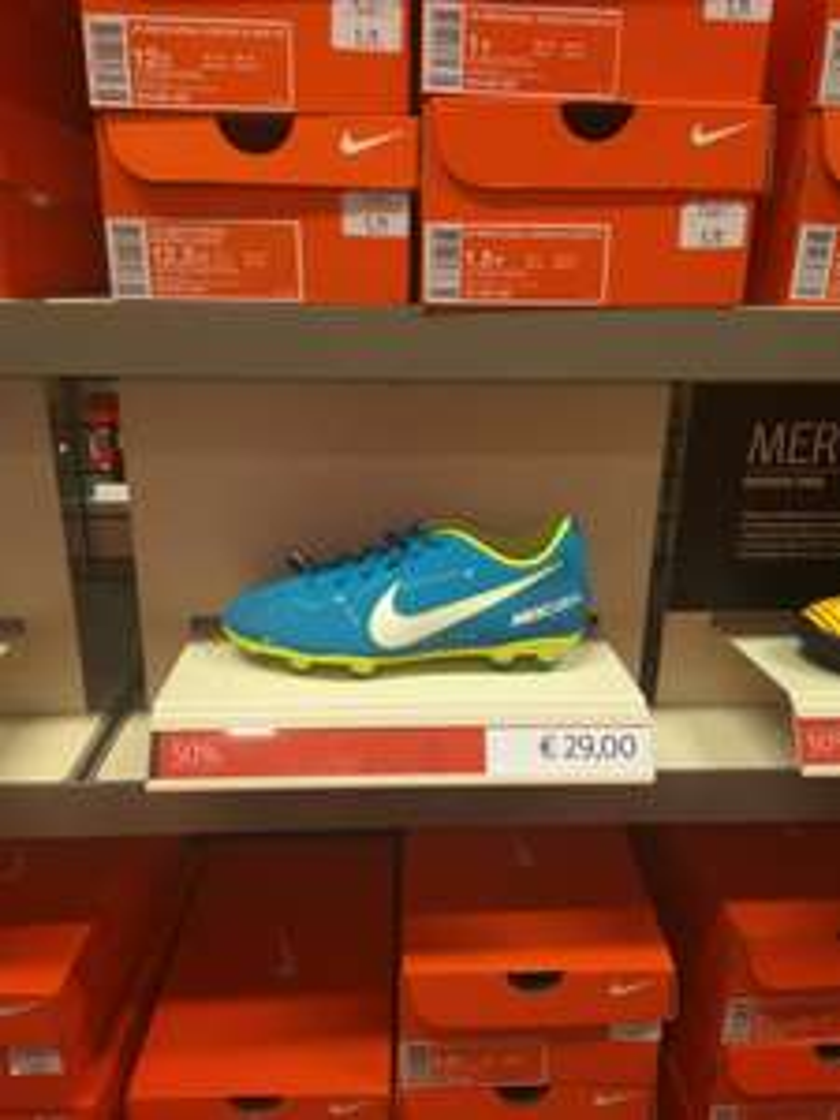 Chaussures de football pour enfant Nike Mercurial NeymarJR - bleu / Jaune (du 27 au 38.5) au Nike Store Claye-Souilly (77)