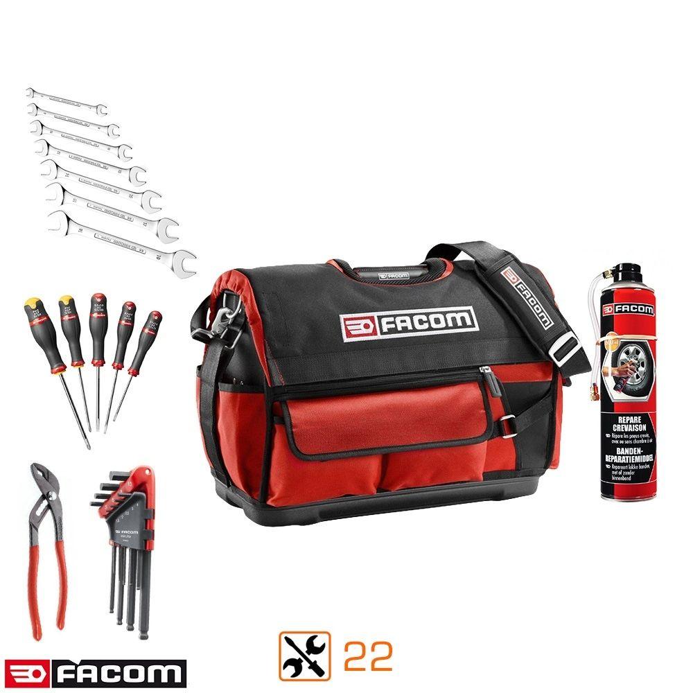 Boîte textile Facom Probag + 22 outils