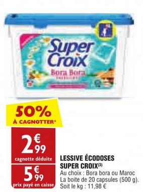 Lessive Ecodoses Super Croix (via BDR 2€)