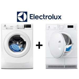 Pack Electrolux - lave-linge EWF1472BS (7 kg, A+++) + sèche-linge à condensation EDP2074PZW (7 kg) avec code de réduction extra50