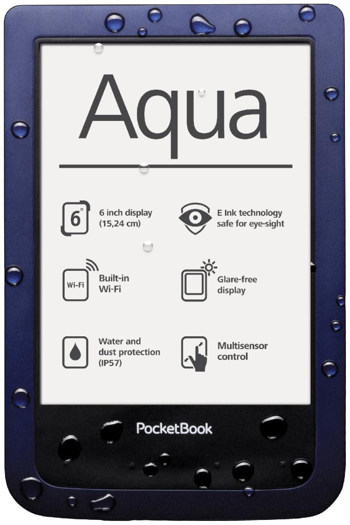 """Liseuse 6"""" étanche Pocketbook Aqua"""