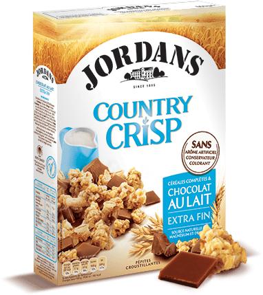Céréales Country Crisp de Jordans (avec 1.07€ en tickets Leclerc)