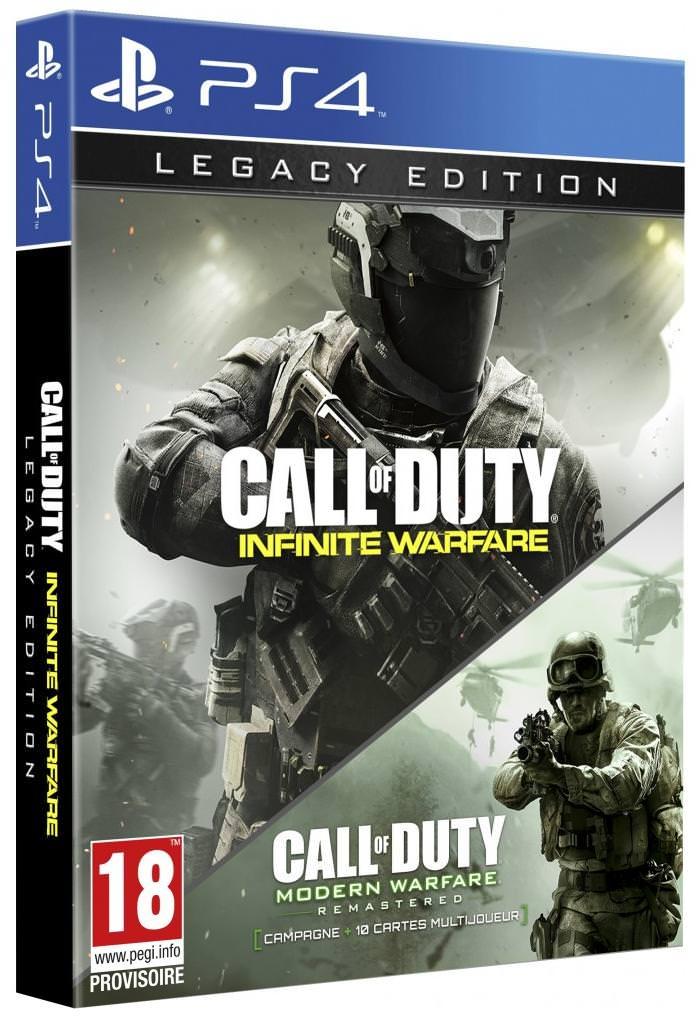 Dès 100€ d'achat : Jeu Call of Duty: Iinfinite Warfare sur PS4 ou Xbox One - Edition Legacy (via 40€ fidélité)