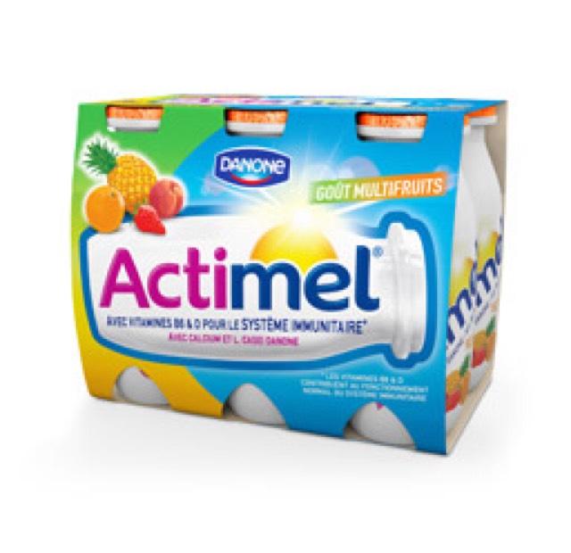 4 Paquets d'Actimel multifruits x8 gratuits (via carte fidélité Franprix + ODR + BDR)