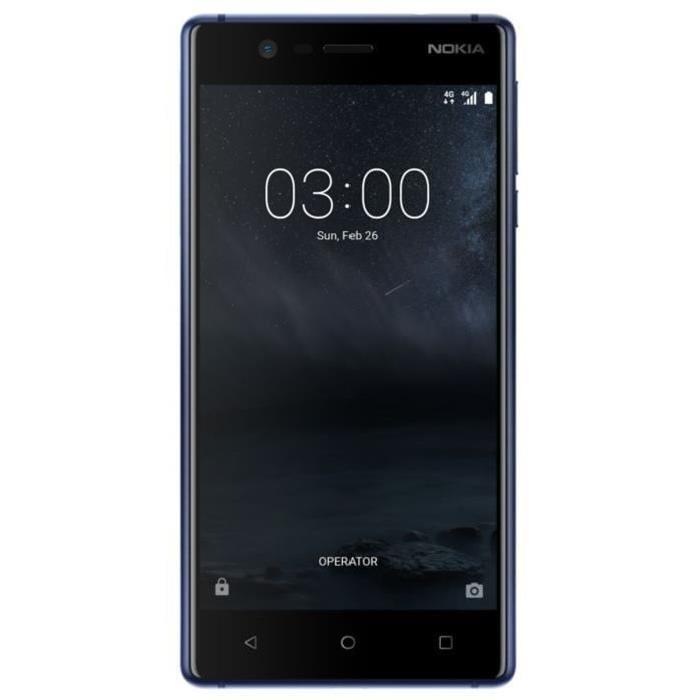 """Smartphone 5"""" Nokia 3 - HD, MT6737, RAM 2 Go, ROM 16 Go (via ODR de 30€)"""