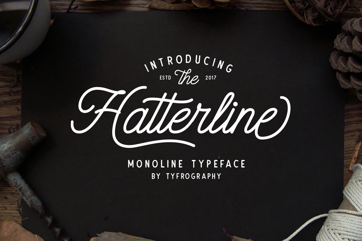 Police d'écriture Hatterline Font gratuite