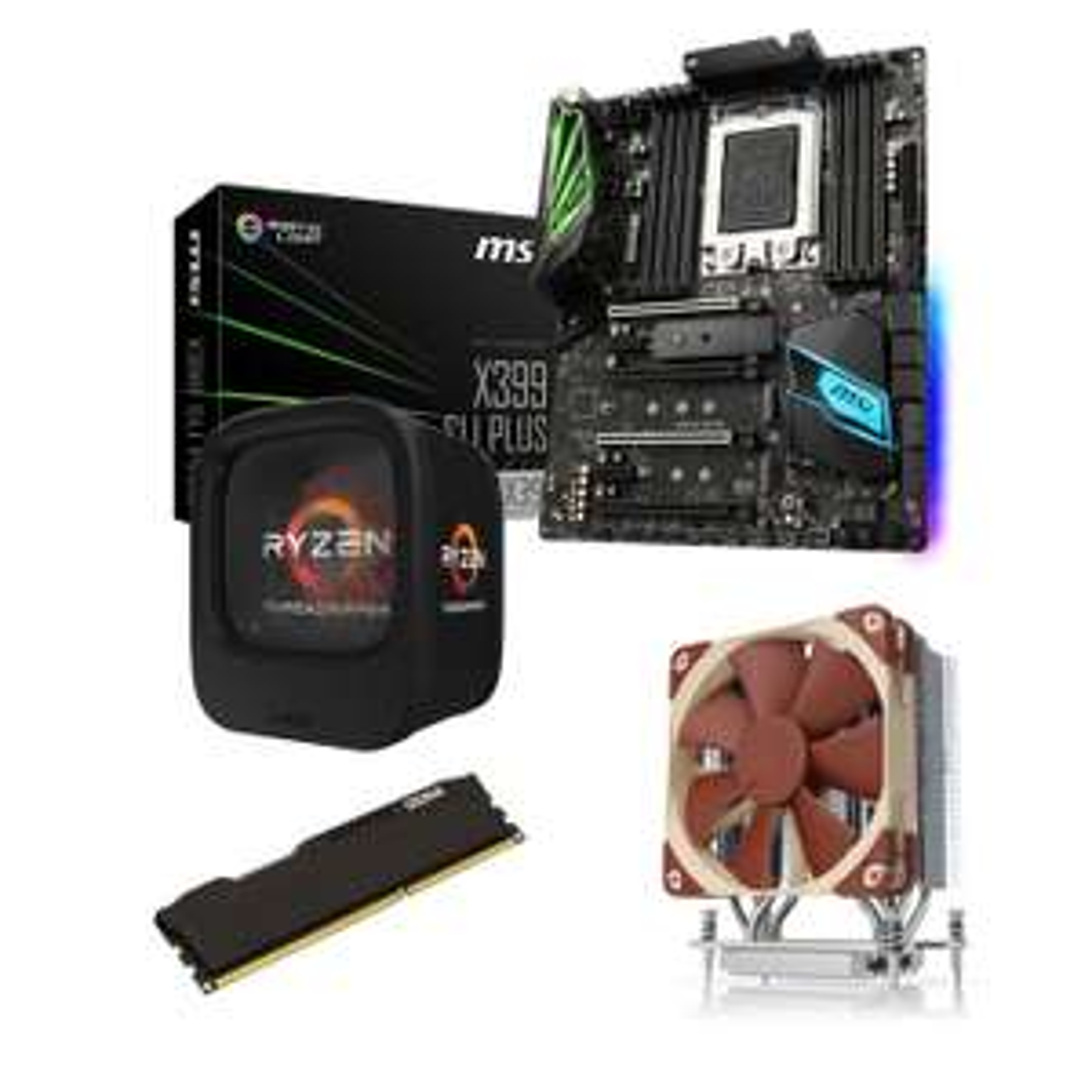 [Expiré] Kit Upgrade PC AMD Ryzen Threadripper : Carte mère ATX Socket sTR4 AMD X399 + CPU AMD Ryzen Threadripper 1950X (3.4 GHz) + RAM 32 Go DDR4 + Ventilateur