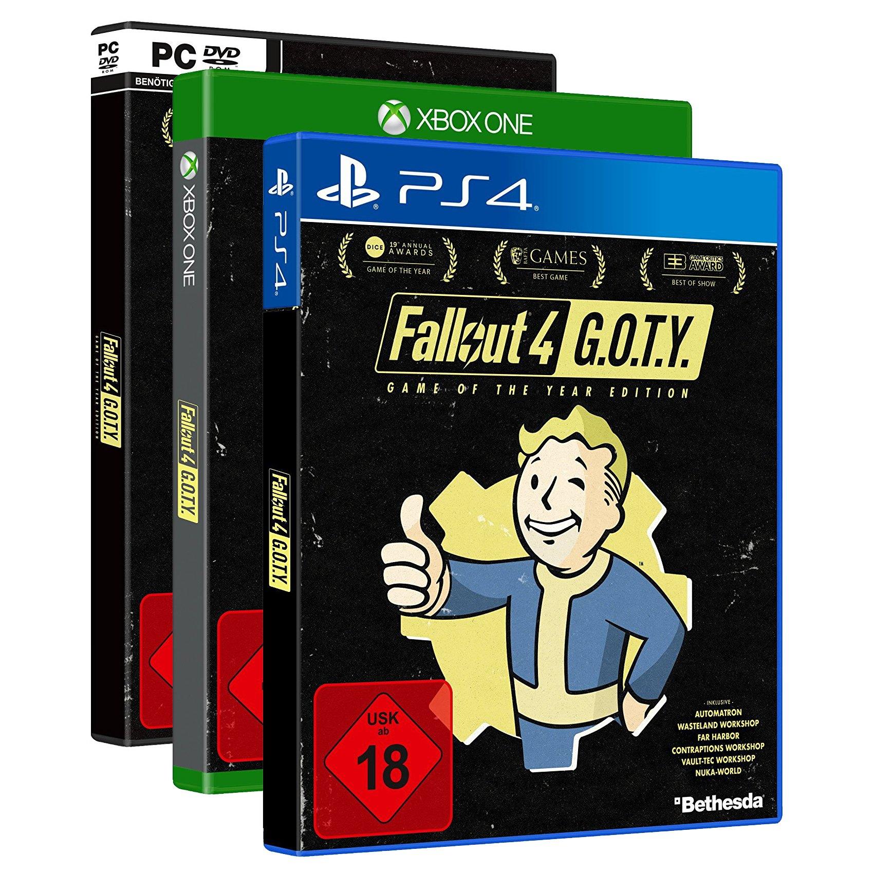 Fallout 4 Game of the Year Edition - Le Jeu + Season Pass PC à 15.92€ et sur PS4 et Xbox One à 19.42€