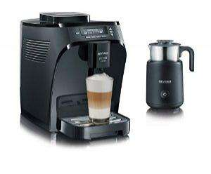 Machine à café automatique avec broyeur Severin KA 8081 + Mousseur à lait à induction
