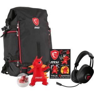 "Sac à dos pour PC portable 17.3"" MSI- Y17 Dragon Fever Summer-GT + casque audio MSI + lot de goodies Dragon Lucky"