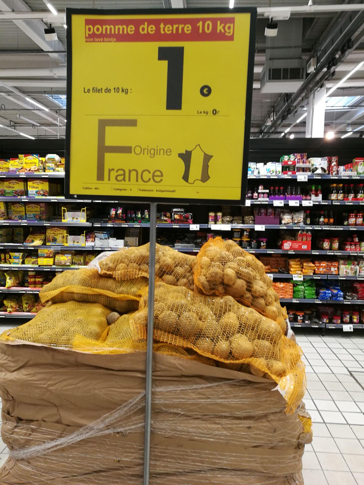 10 kg de pomme de terre non lavé bintje (Origine France) - Davézieux (07)