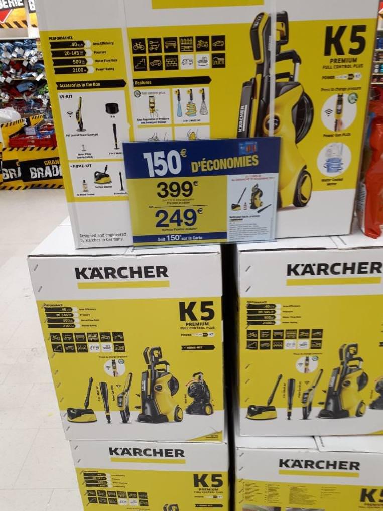Nettoyeur haute pression Karcher k5 premium (via 150€ fidélité, Carrefour Evry2 - 91)