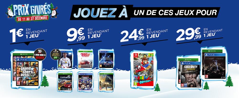 Sélection de jeux en promotion via reprise d'un ancien jeu parmi une sélection - Ex : Jeu GTA 5 (via reprise d'un jeu)