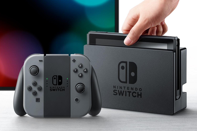 Console Nintendo Switch avec paire de joy-con gris (frontaliers Luxembourg)