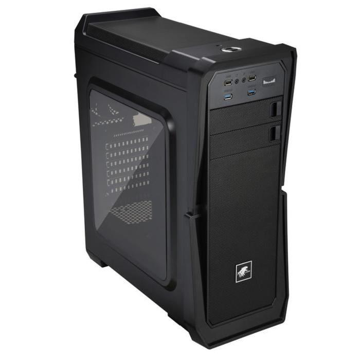 Boîtier PC Lepa LPC502 - Moyen Tour, Fenêtre, Noir