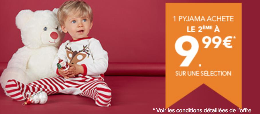 1 Pyjama acheté = Le 2ème pour 9.99€