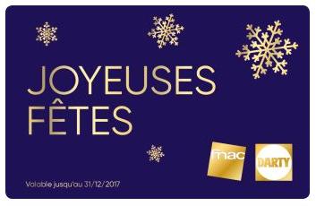 Sélection de cartes cadeaux en promotion - Ex : 60€ pour 50€ (Dématérialisé)