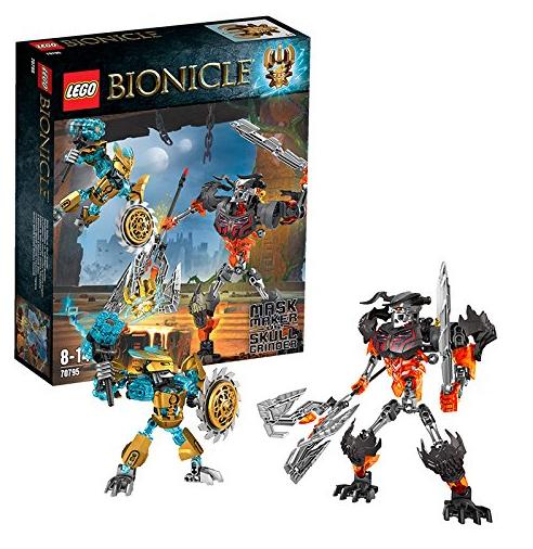 Figurines Lego Bionicle : Le Créateur De Masque Contre Le Crâne Broyeur n°70795